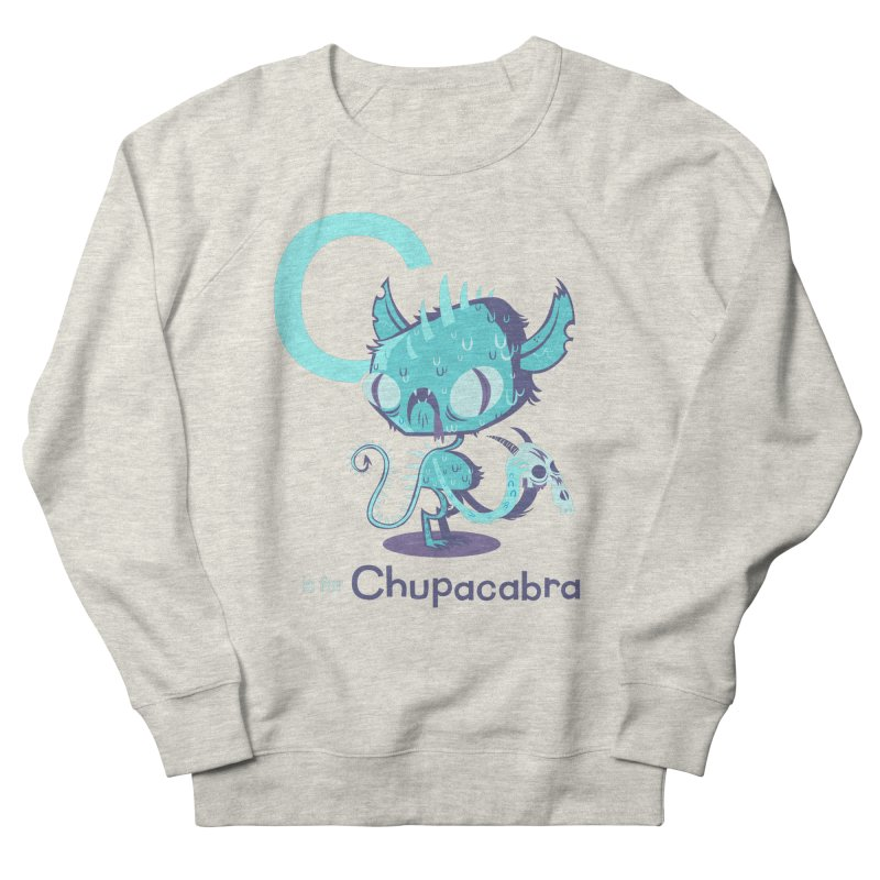 C is for Chupacabra Women's French Terry Sweatshirt by Hazy Dell Press