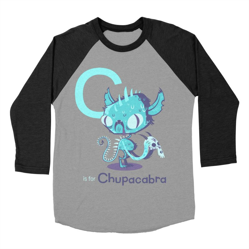 C is for Chupacabra Women's Baseball Triblend T-Shirt by Hazy Dell Press
