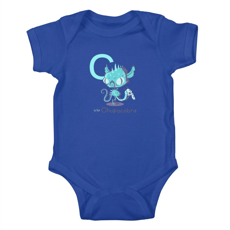 C is for Chupacabra Kids Baby Bodysuit by Hazy Dell Press