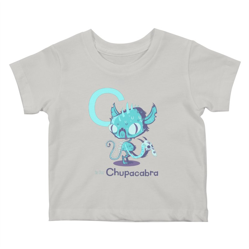 C is for Chupacabra Kids Baby T-Shirt by Hazy Dell Press