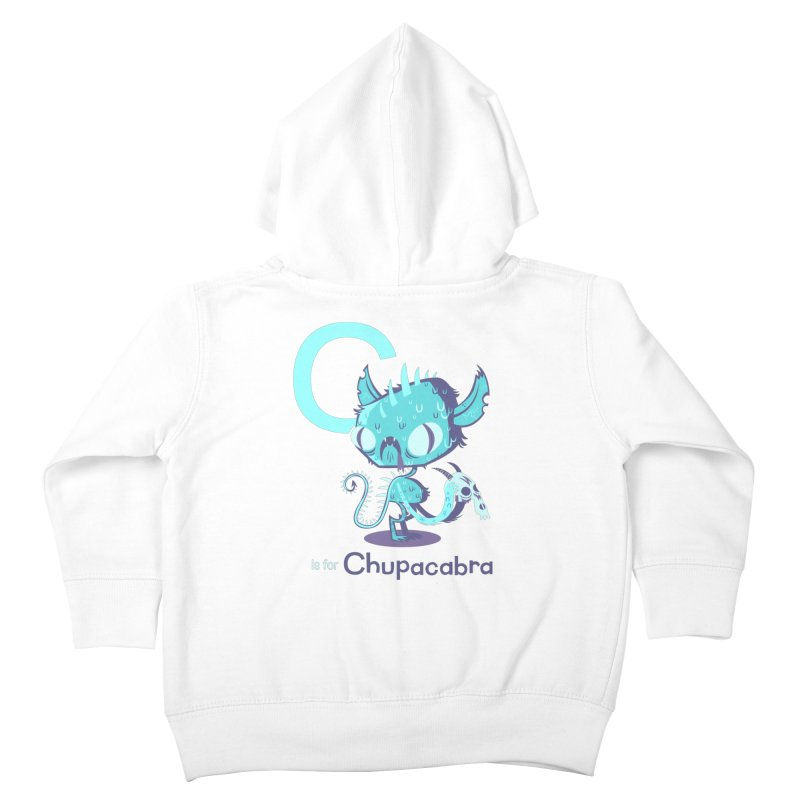 C is for Chupacabra Kids Toddler Zip-Up Hoody by Hazy Dell Press