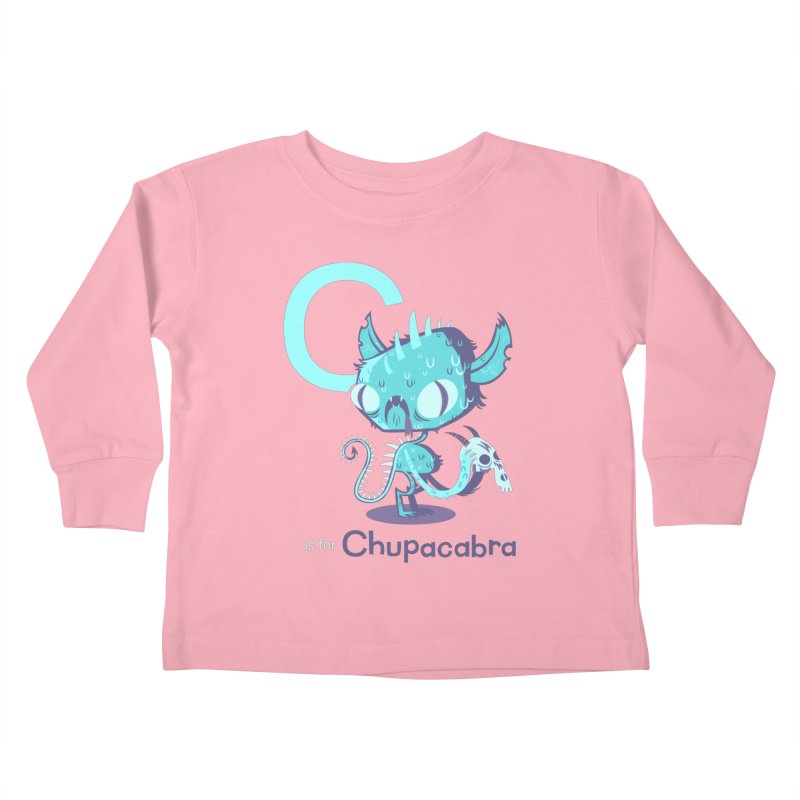 C is for Chupacabra Kids Toddler Longsleeve T-Shirt by Hazy Dell Press