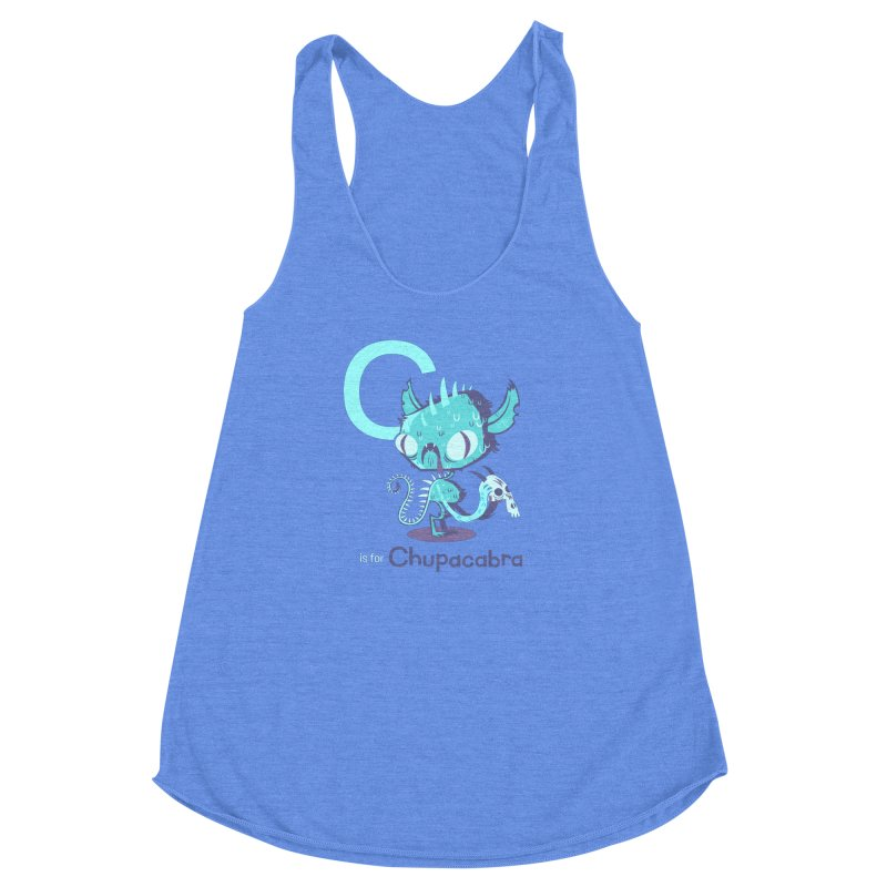 C is for Chupacabra Women's Racerback Triblend Tank by Hazy Dell Press