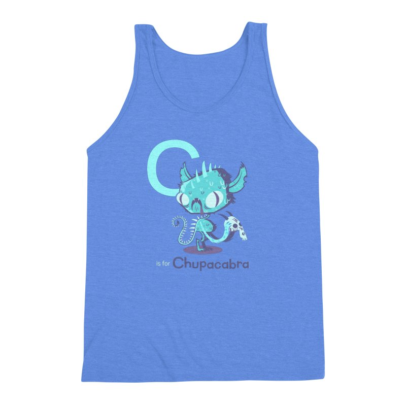 C is for Chupacabra Men's Triblend Tank by Hazy Dell Press