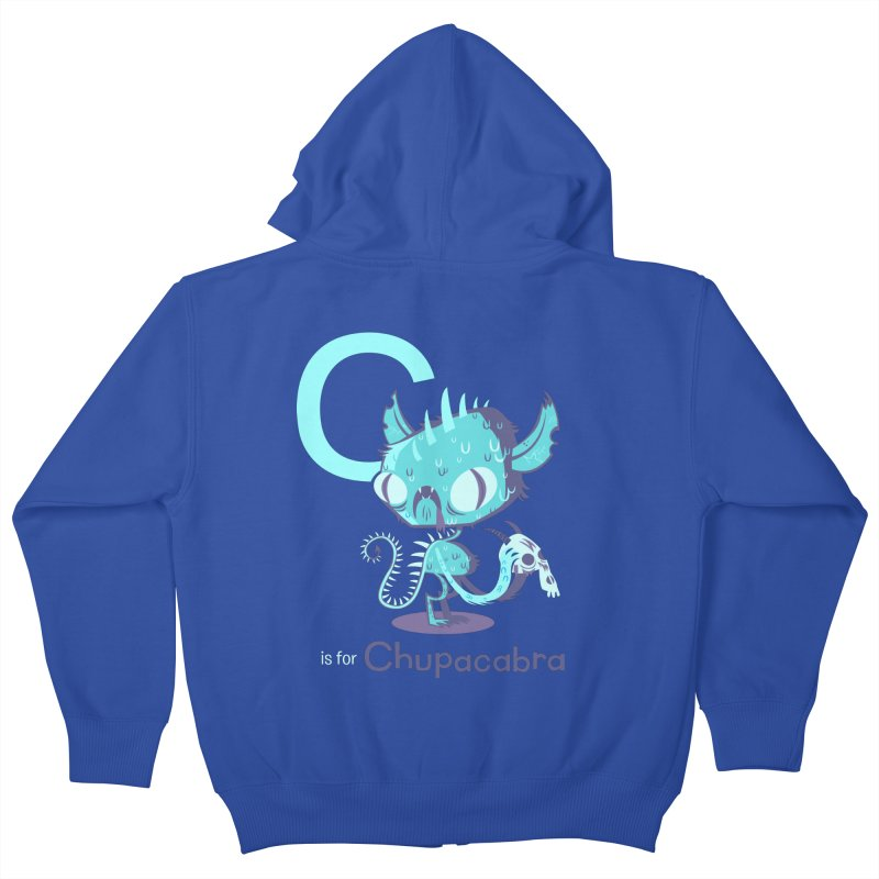 C is for Chupacabra Kids Zip-Up Hoody by Hazy Dell Press