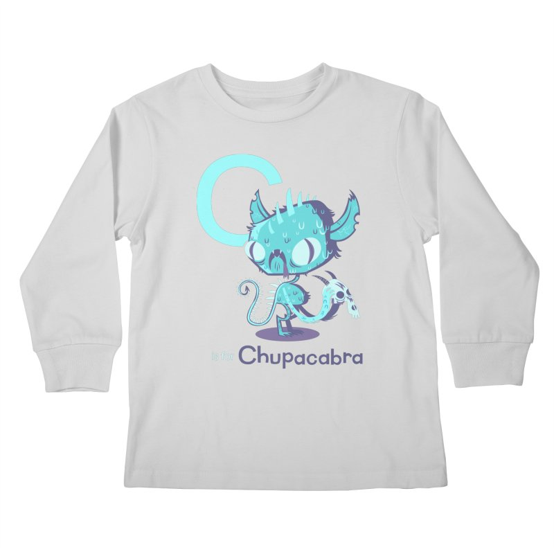 C is for Chupacabra Kids Longsleeve T-Shirt by Hazy Dell Press