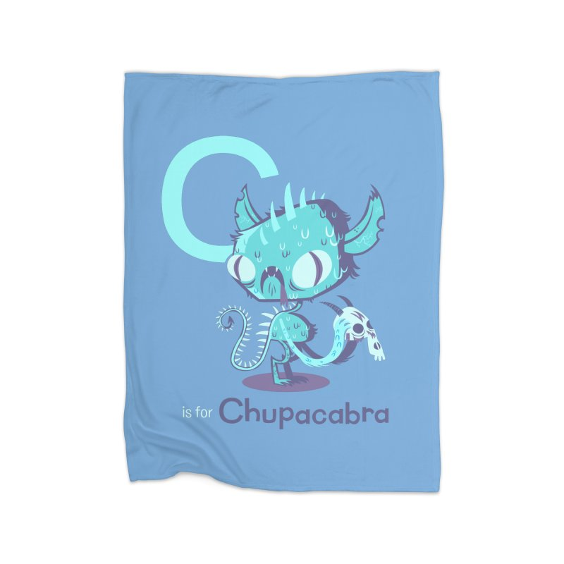C is for Chupacabra Home Blanket by Hazy Dell Press