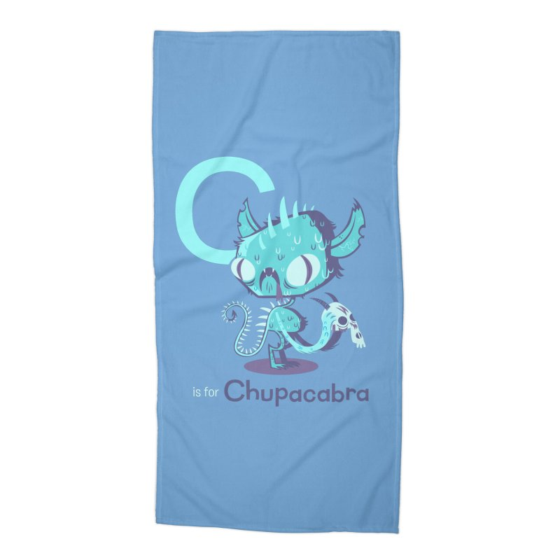 C is for Chupacabra Accessories Beach Towel by Hazy Dell Press