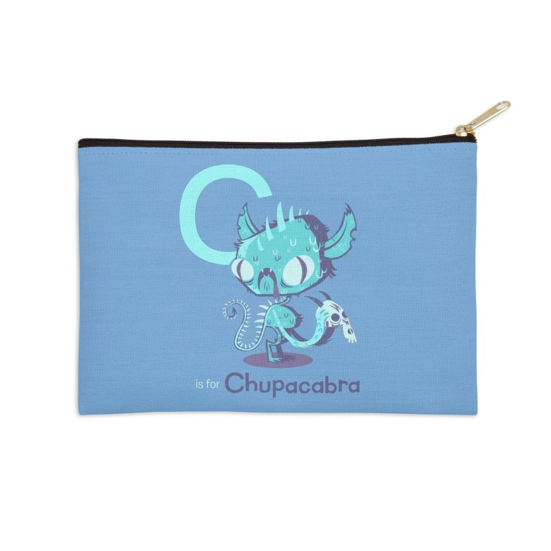 C is for Chupacabra Accessories Zip Pouch by Hazy Dell Press