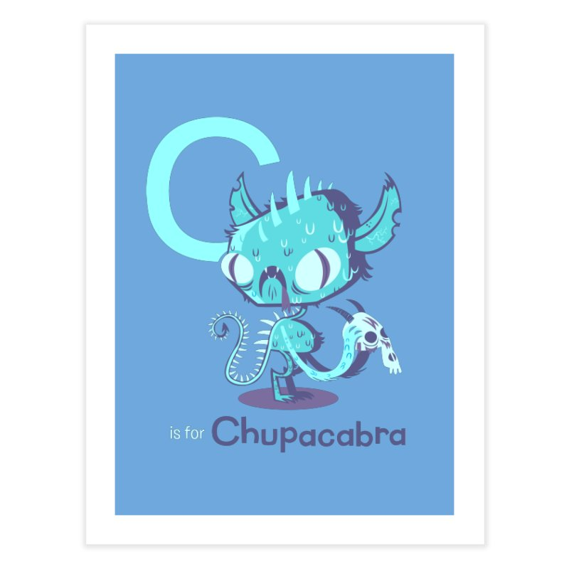 C is for Chupacabra Home Fine Art Print by Hazy Dell Press