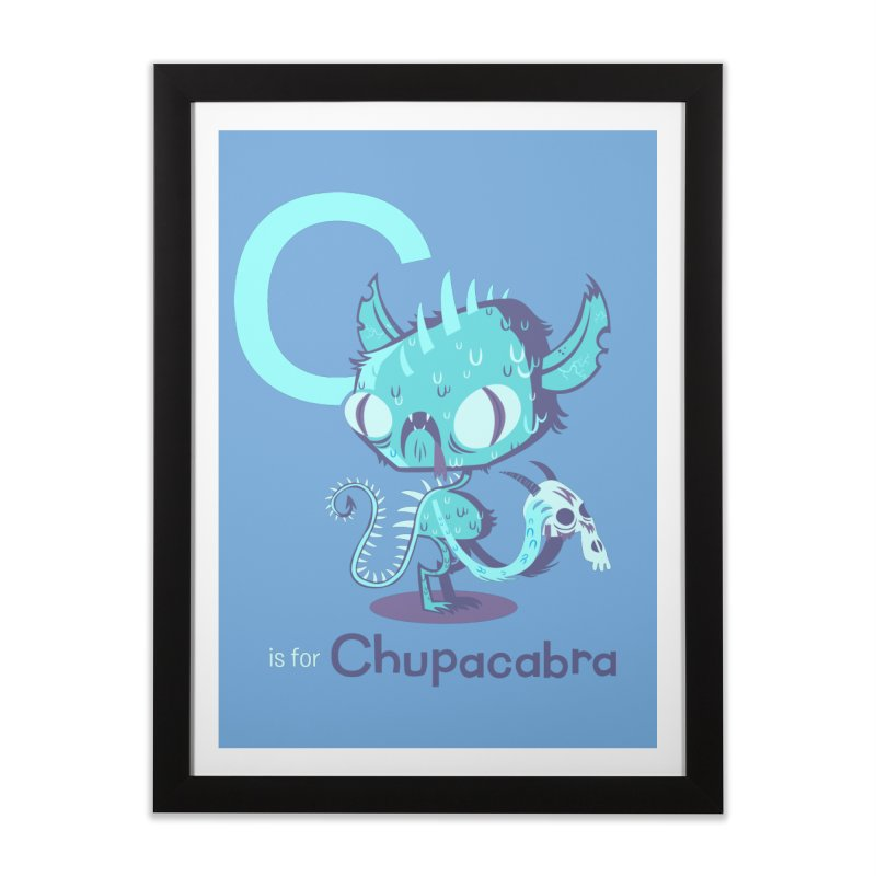C is for Chupacabra Home Framed Fine Art Print by Hazy Dell Press