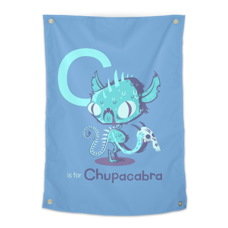 C is for Chupacabra Home Tapestry by Hazy Dell Press