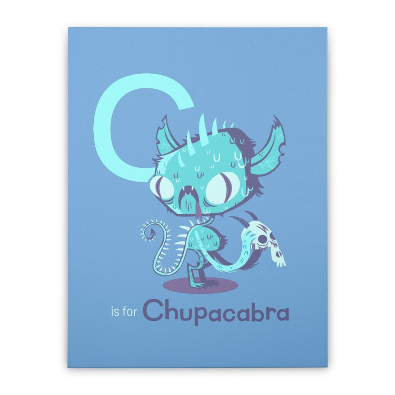 C is for Chupacabra Home Stretched Canvas by Hazy Dell Press