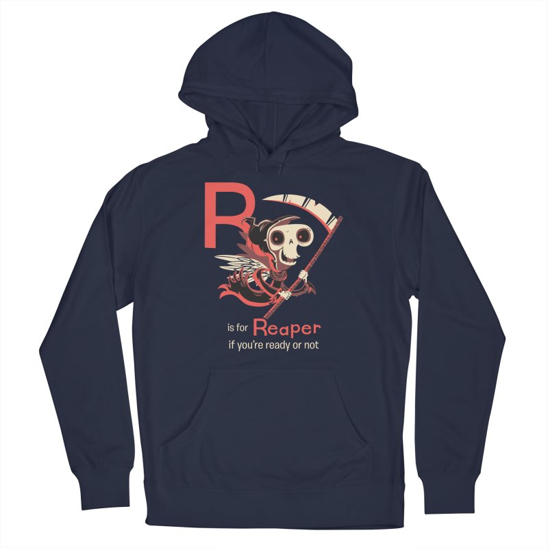 R is for Reaper Men's French Terry Pullover Hoody by Hazy Dell Press