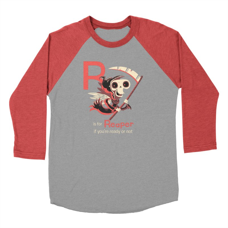 R is for Reaper Men's Baseball Triblend Longsleeve T-Shirt by Hazy Dell Press