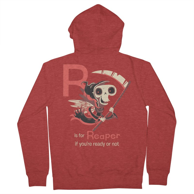 R is for Reaper Men's Zip-Up Hoody by Hazy Dell Press