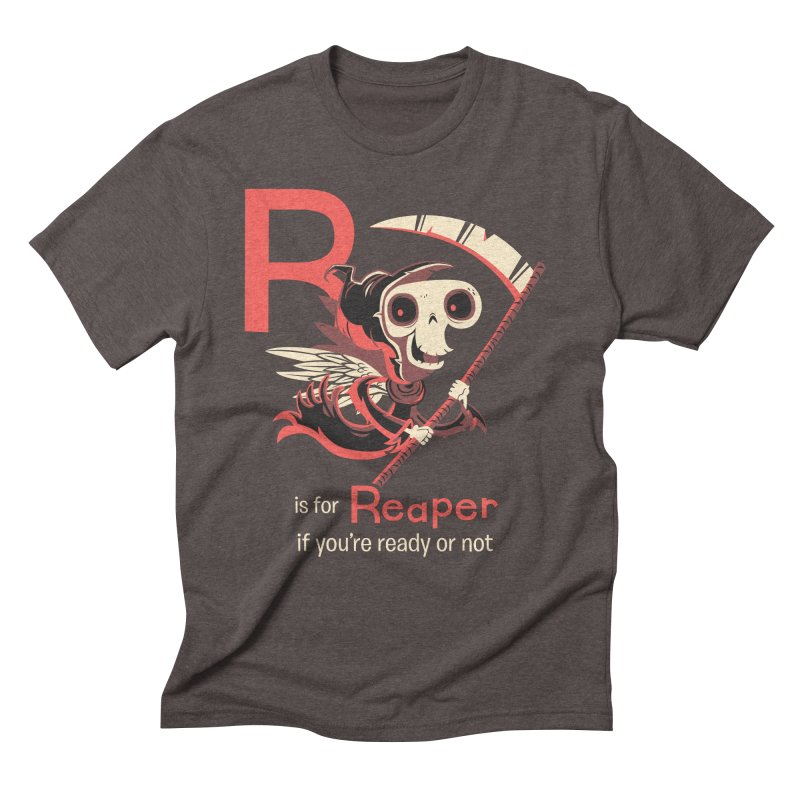 R is for Reaper in Men's Triblend T-shirt Tri-Coffee by Hazy Dell Press