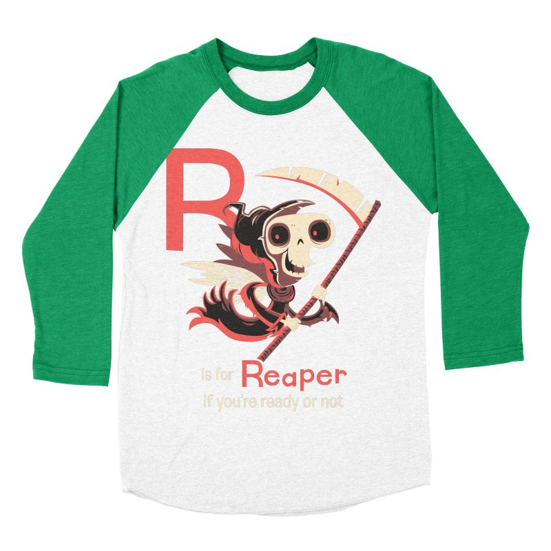 R is for Reaper Men's Baseball Triblend T-Shirt by Hazy Dell Press