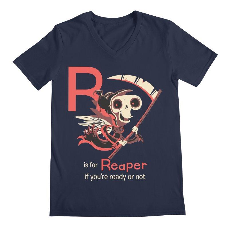 R is for Reaper Men's V-Neck by Hazy Dell Press