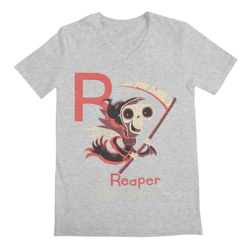 R is for Reaper Men's V-Neck by Hazy Dell Press