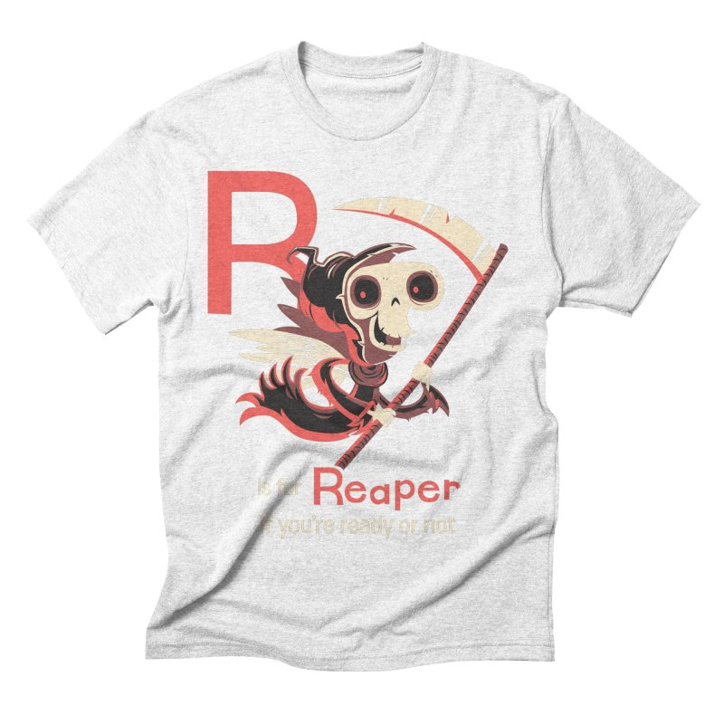 R is for Reaper Men's Triblend T-shirt by Hazy Dell Press