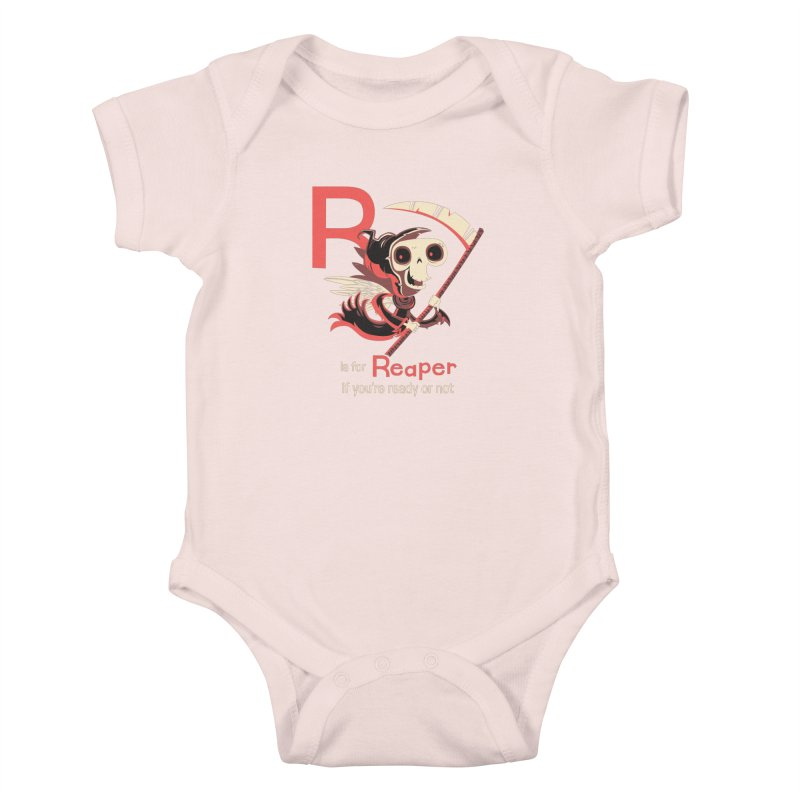 R is for Reaper Kids Baby Bodysuit by Hazy Dell Press