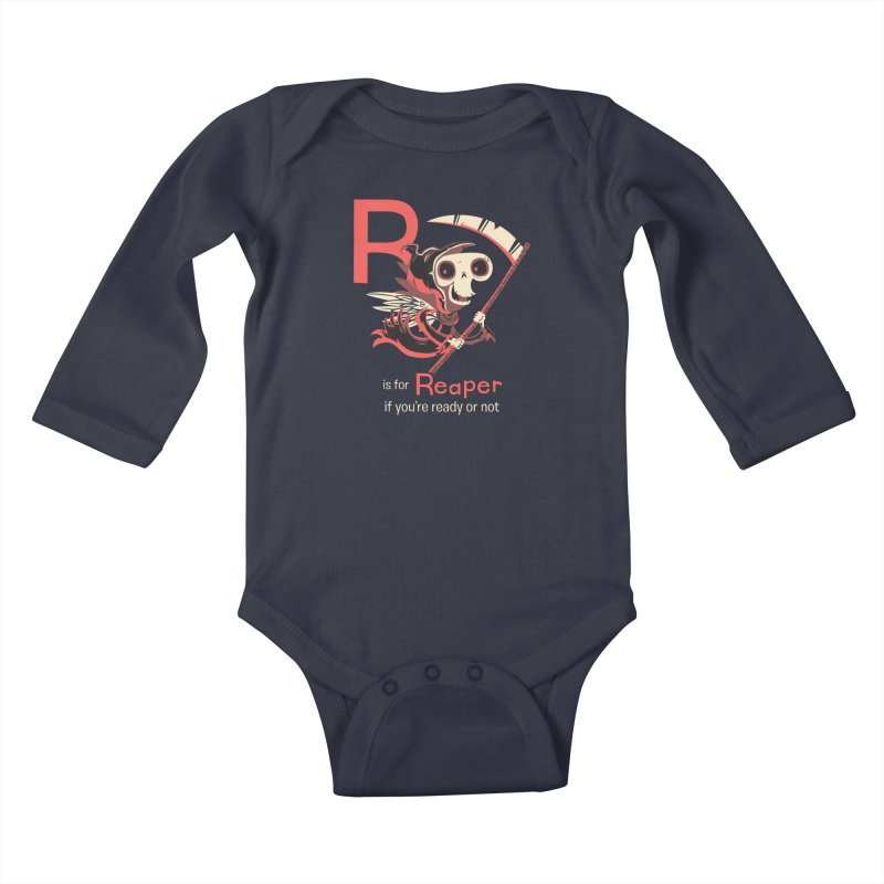 R is for Reaper Kids Baby Longsleeve Bodysuit by Hazy Dell Press