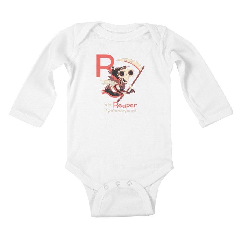 R is for Reaper Kids Baby Longsleeve Bodysuit by Hazy Dell Press