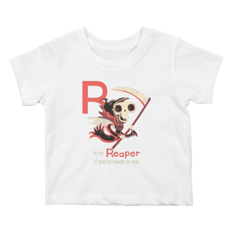 R is for Reaper Kids Baby T-Shirt by Hazy Dell Press