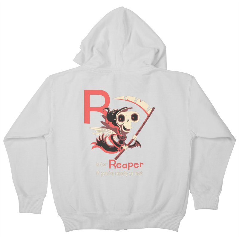 R is for Reaper Kids Zip-Up Hoody by Hazy Dell Press