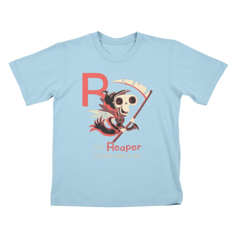 R is for Reaper Kids T-Shirt by Hazy Dell Press