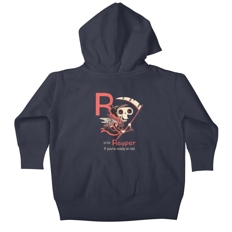 R is for Reaper Kids Baby Zip-Up Hoody by Hazy Dell Press