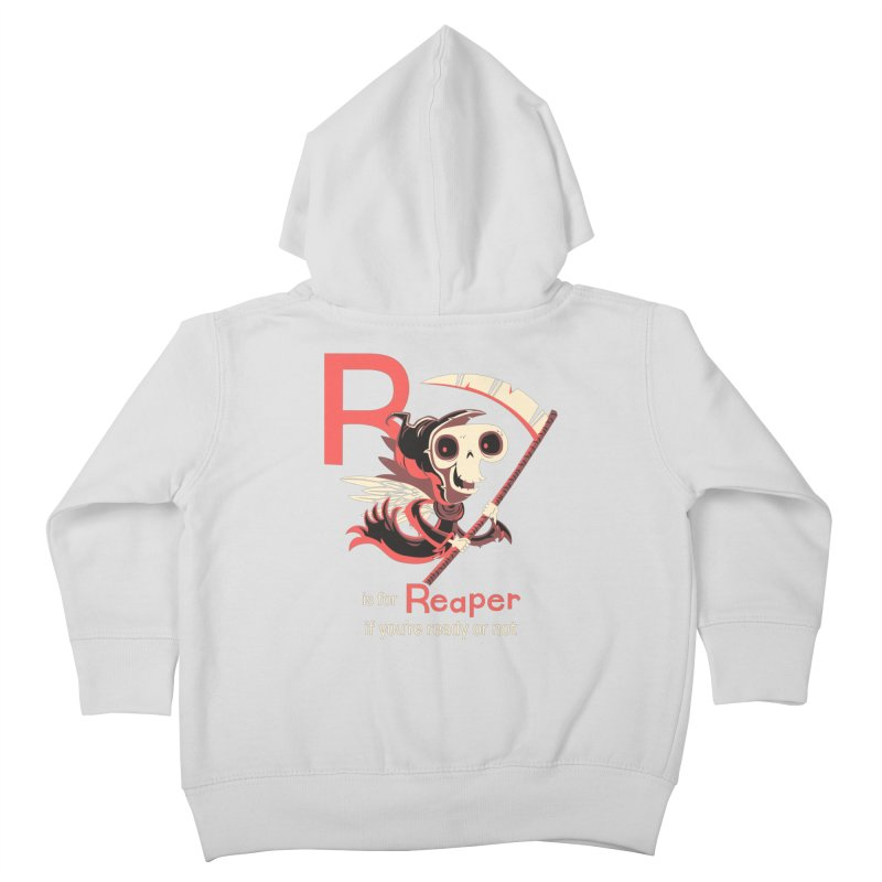 R is for Reaper Kids Toddler Zip-Up Hoody by Hazy Dell Press