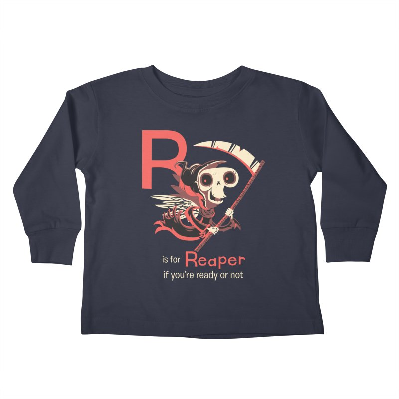R is for Reaper Kids Toddler Longsleeve T-Shirt by Hazy Dell Press