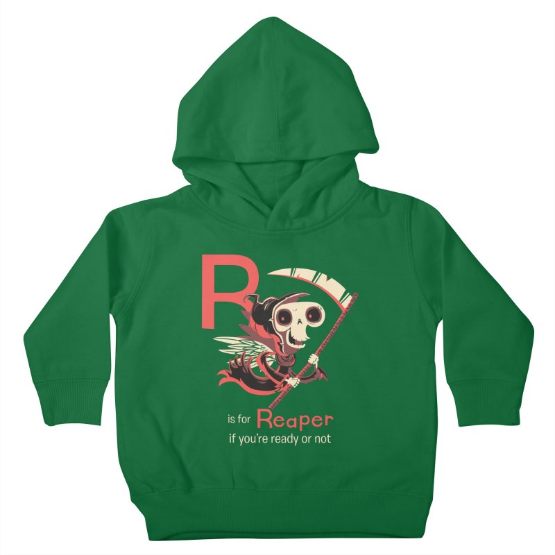 R is for Reaper Kids Toddler Pullover Hoody by Hazy Dell Press