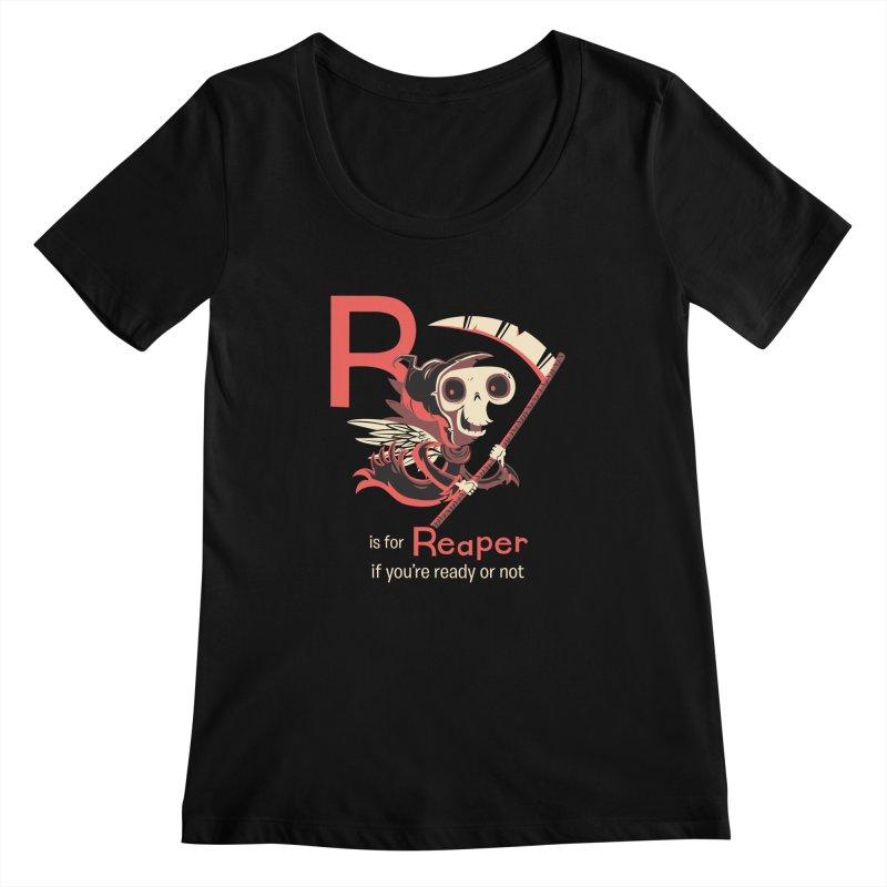 R is for Reaper Women's Scoopneck by Hazy Dell Press