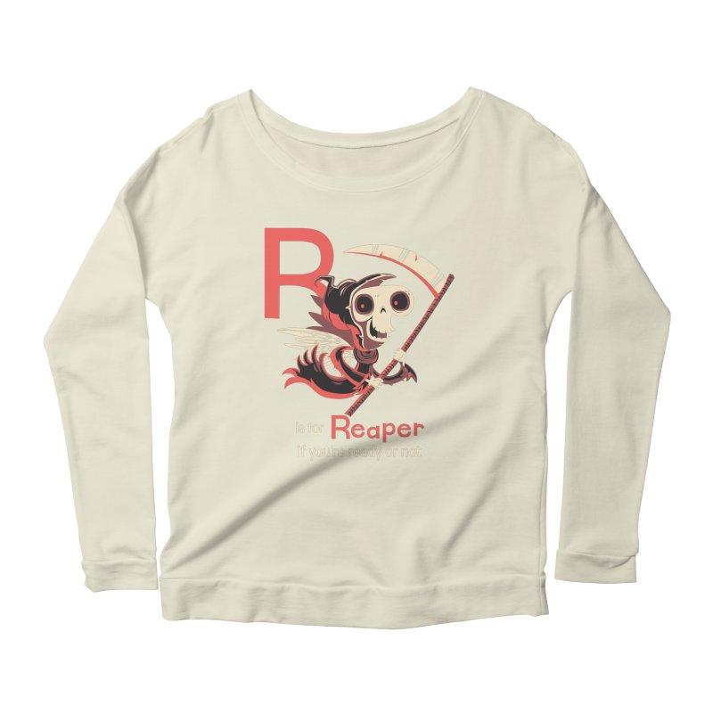 R is for Reaper Women's Longsleeve Scoopneck  by Hazy Dell Press