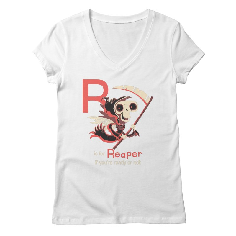R is for Reaper Women's V-Neck by Hazy Dell Press