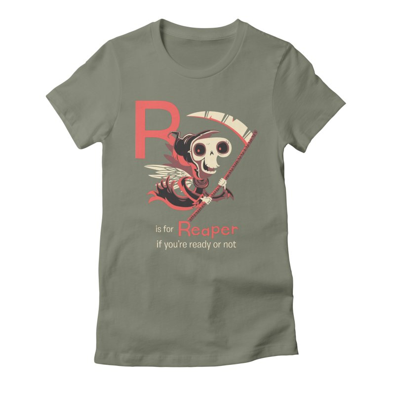 R is for Reaper Women's Fitted T-Shirt by Hazy Dell Press