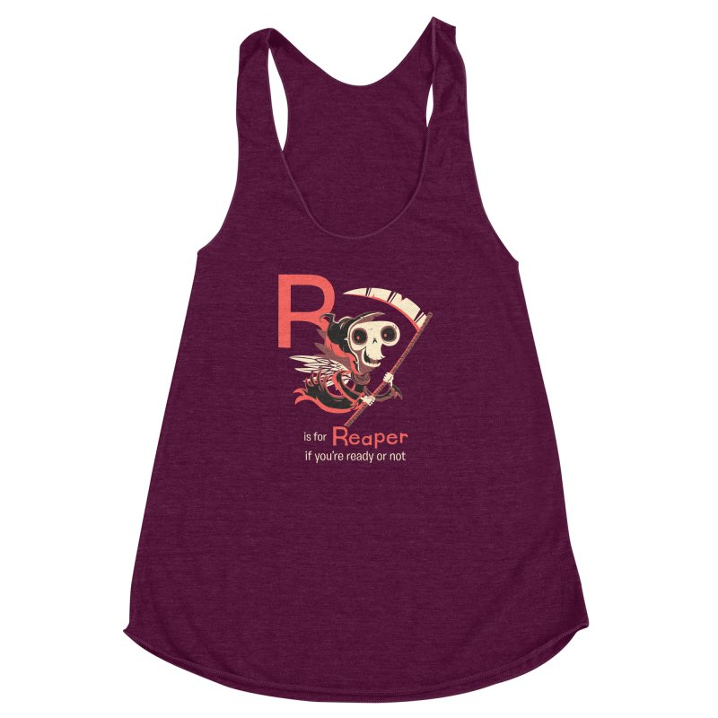 R is for Reaper Women's Racerback Triblend Tank by Hazy Dell Press