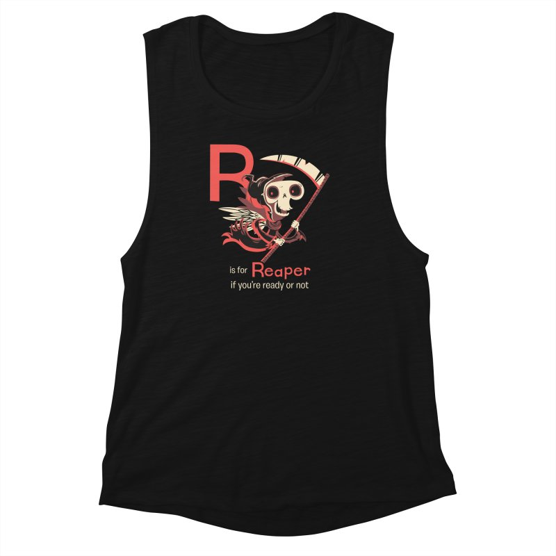 R is for Reaper Women's Muscle Tank by Hazy Dell Press