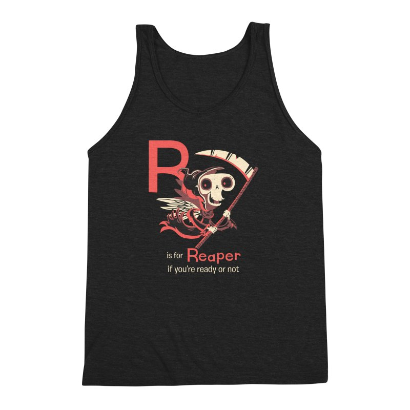 R is for Reaper Men's Triblend Tank by Hazy Dell Press