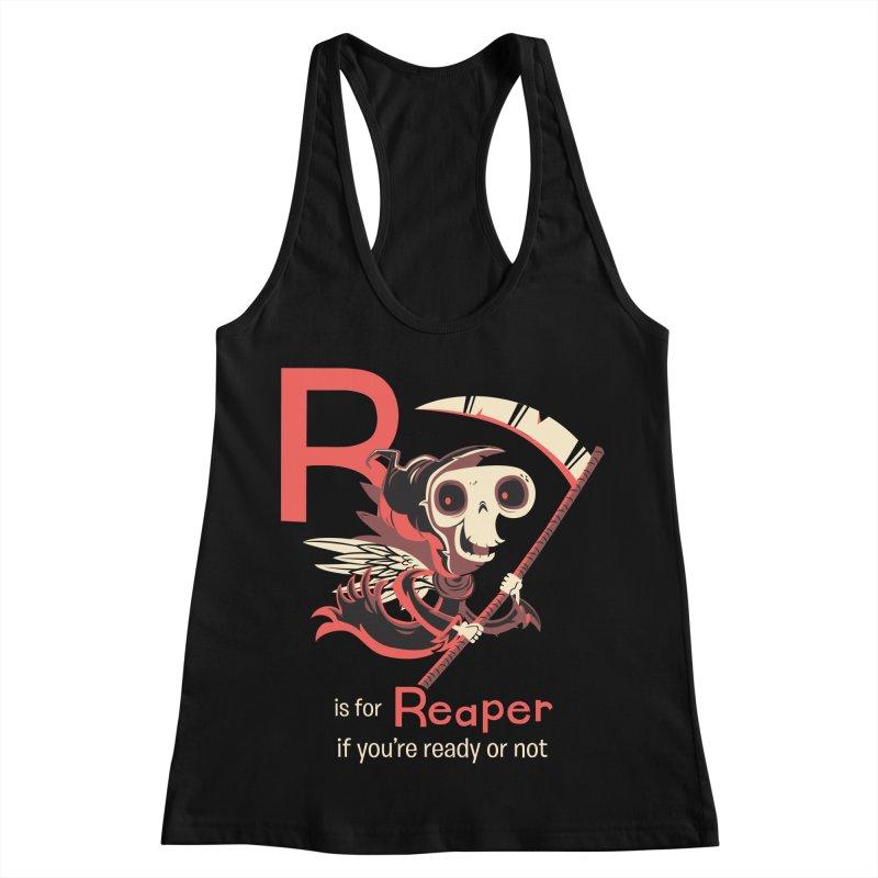 R is for Reaper Women's Racerback Tank by Hazy Dell Press