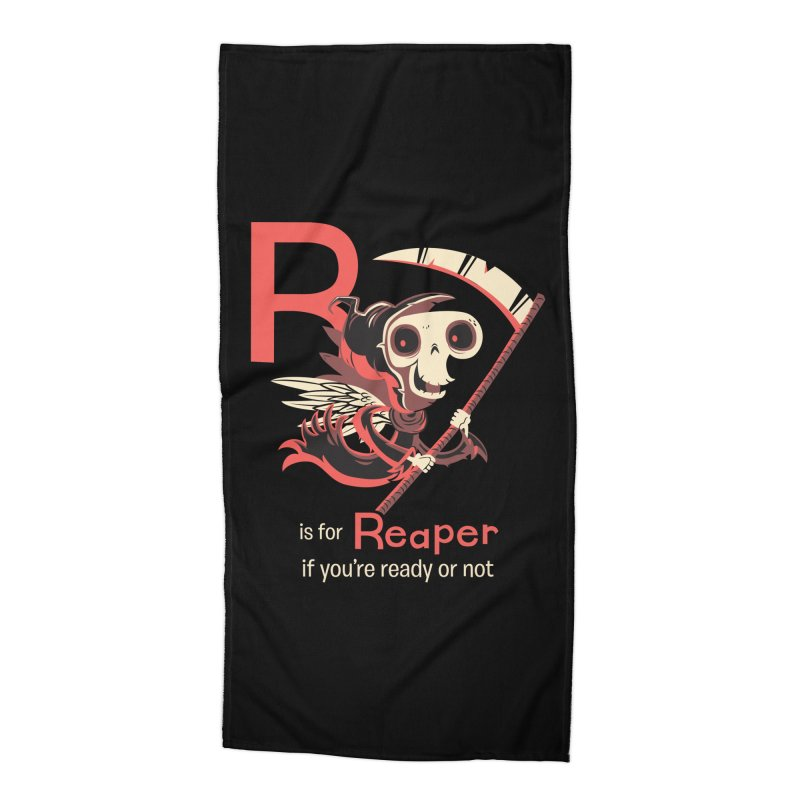 R is for Reaper Accessories Beach Towel by Hazy Dell Press