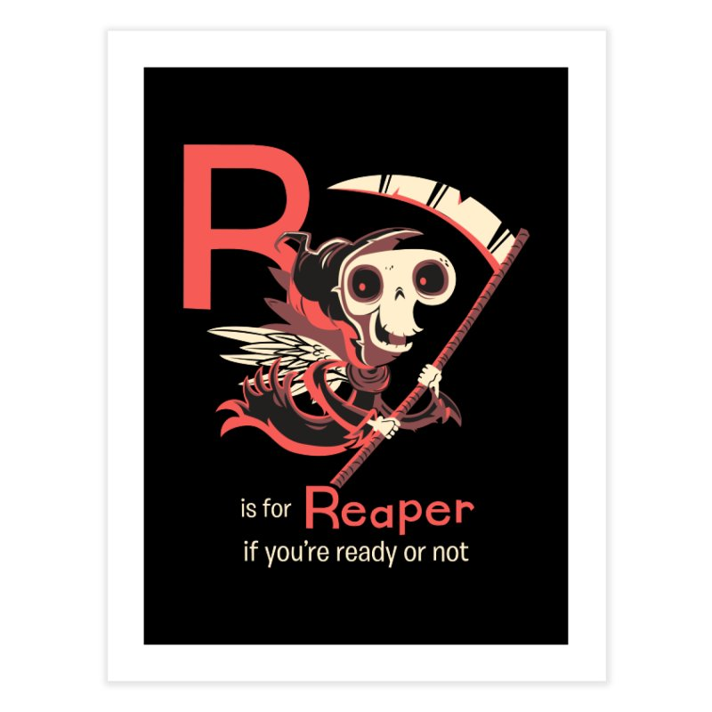 R is for Reaper Home Fine Art Print by Hazy Dell Press