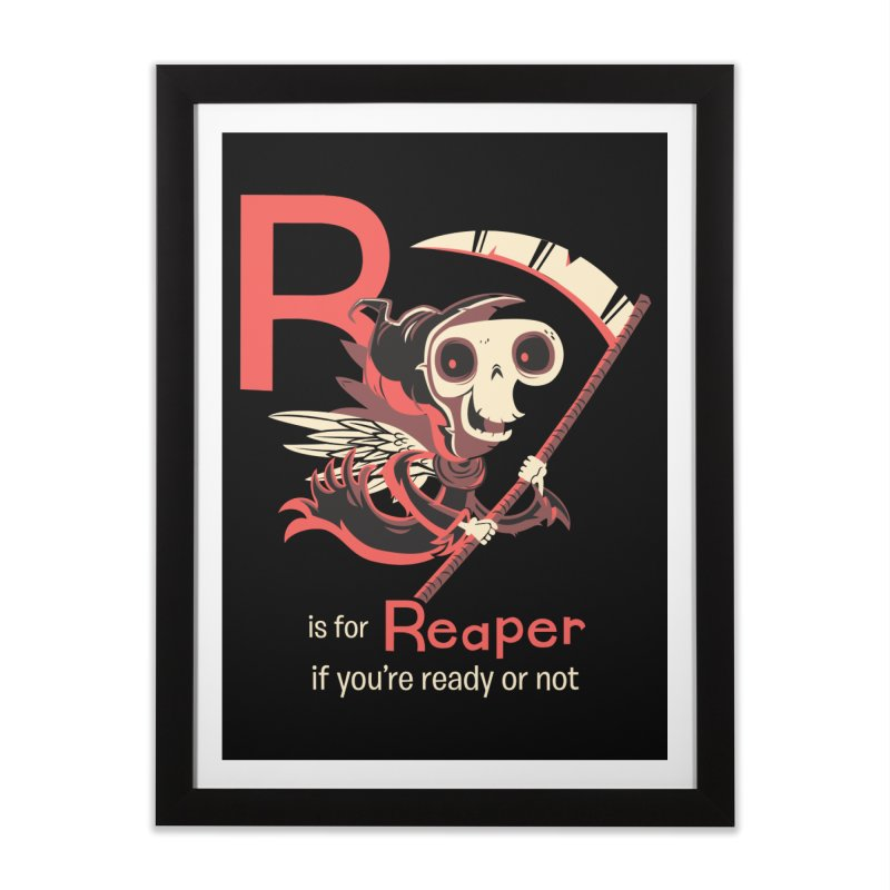 R is for Reaper Home Framed Fine Art Print by Hazy Dell Press