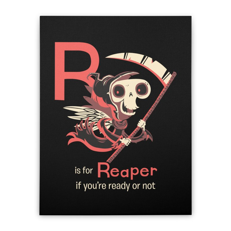 R is for Reaper Home Stretched Canvas by Hazy Dell Press