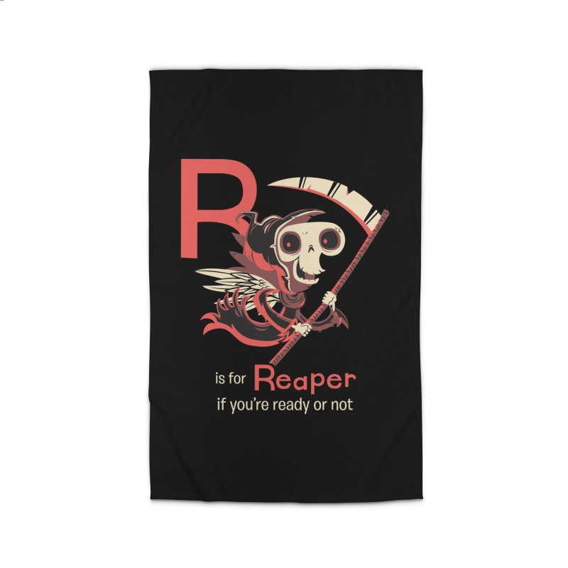 R is for Reaper Home Rug by Hazy Dell Press