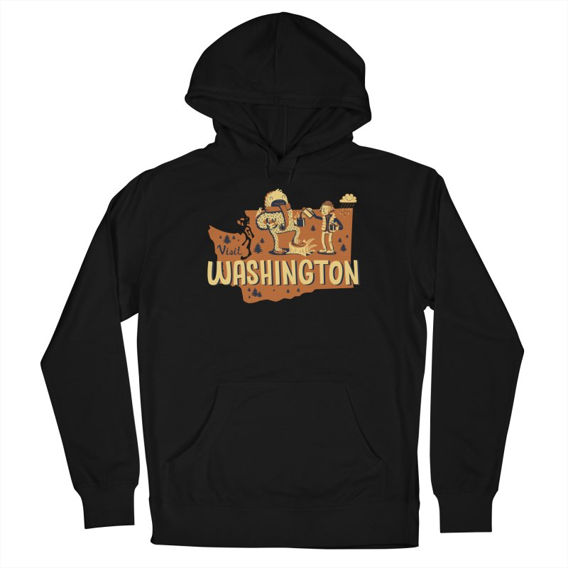 Visit Washington Men's French Terry Pullover Hoody by Hazy Dell Press