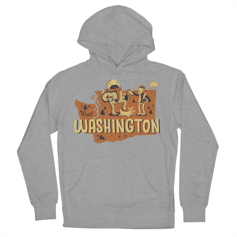 Visit Washington Women's French Terry Pullover Hoody by Hazy Dell Press